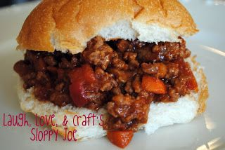 Laugh, Love, and Craft: Manic Monday Recipe~ Sloppy Joes From Scratch