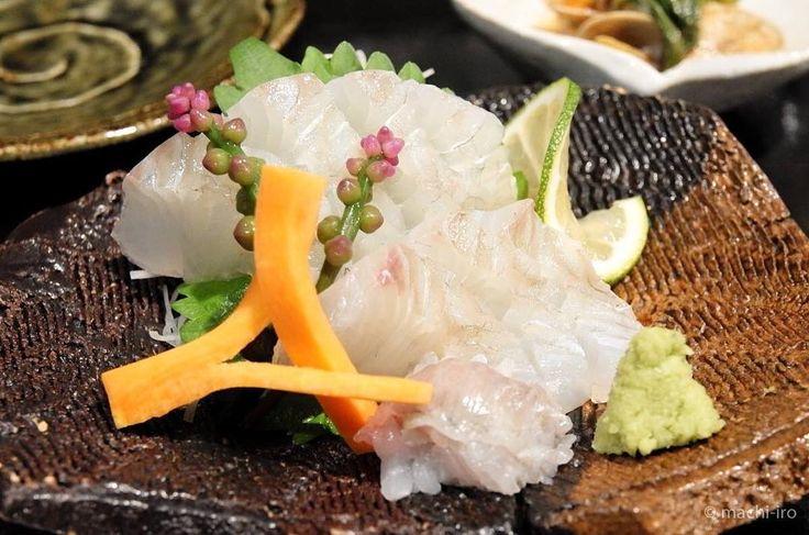 鮃のお刺身 美しくって美味しかったです 優歩さんにて #優歩 #ヒラメ #刺身