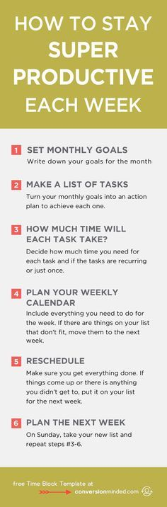 How to Stay Super Productive Each Week | Ready to turn your to-do list into an action plan? This guide for entrepreneurs and bloggers will help you prioritize goals and tasks so you know exactly what you need to do each day to reach your goals. It also includes my secret productivity weapon – the Time Block Template! Click through to see all the tips!
