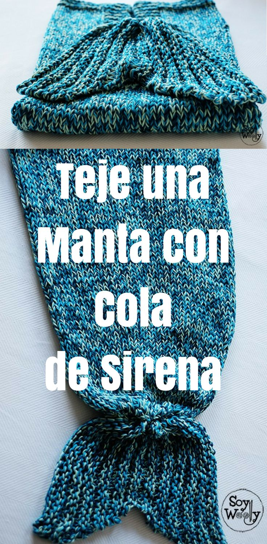 Sirena Cómo AgujasTejidos Tejer De En Cola Dos Manta Una Con 8kXnON0wP
