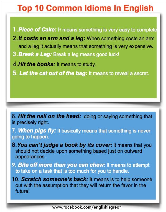The 106 Best Idioms Images On Pinterest English Grammar English