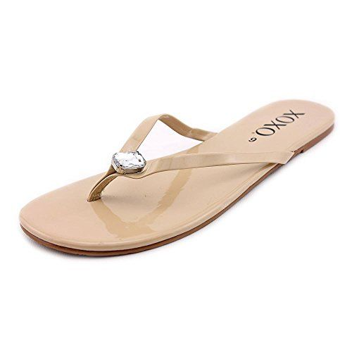 XOXO Tara Women US 6 Nude Flip Flop Sandal >>> Check this awesome product by going to the link at the image. (This is an affiliate link) #WomensFlipFlopsSandals