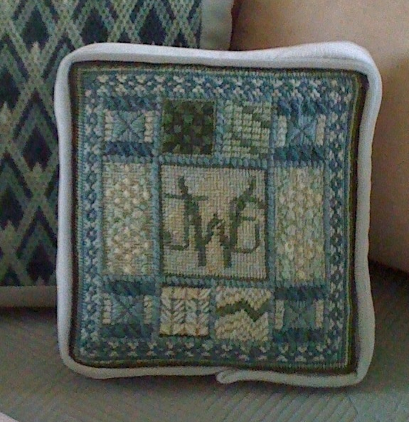 Needlepoint sampler with monogram.: Monograms, Design, Crafts