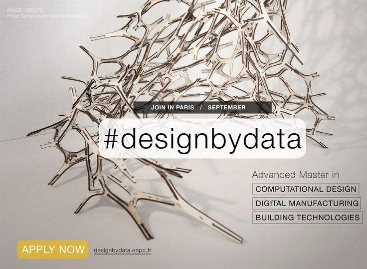 applications open for design by data advanced master course in paris