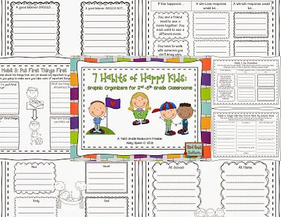 7 Habits Graphic Organizers for Big Kids {FREE!}  Perfect for 3rd-8th grade!