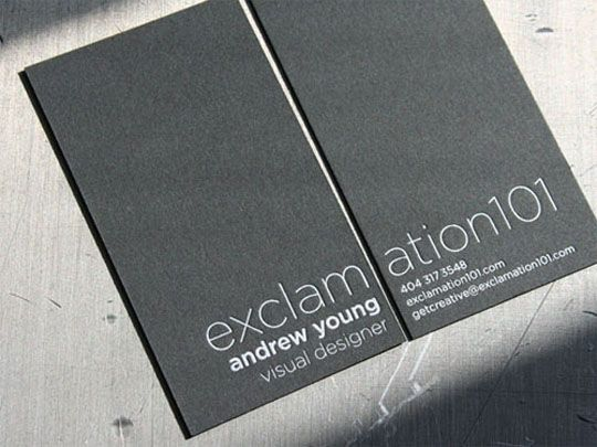 174 best creative visit cards images on pinterest business cards a simple business card with a light letter pressed font with a unique design concept reheart Image collections