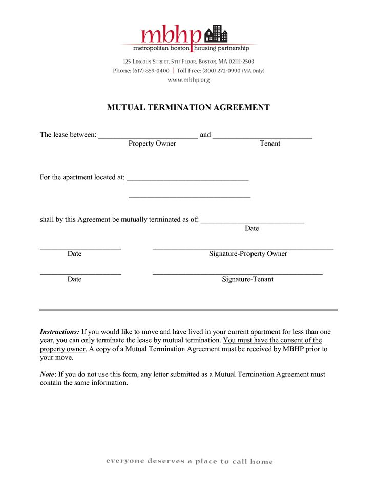 agreement form mutual termination letter and employment