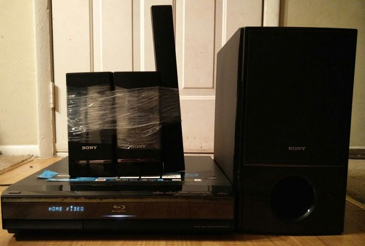Sony HCD-E300 Blu ray player  W/Speakers And Subwoofer Used Tested Working #Sony