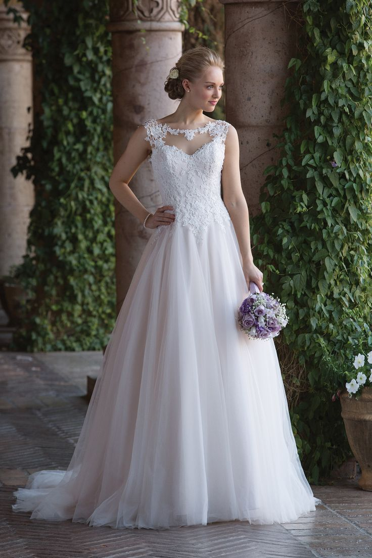 Sincerity Bridal Tulle Ball Gown With Basque Waist