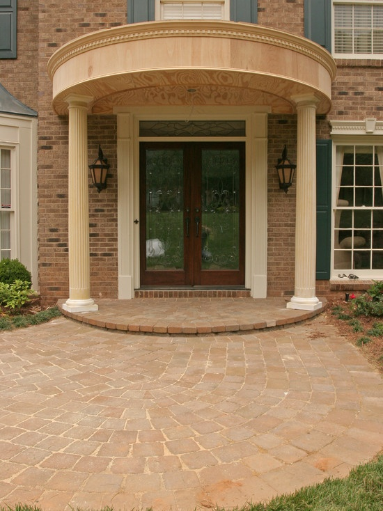 Traditional Spaces Covered Entry Design Pictures Remodel