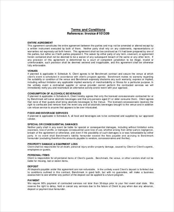 28 Event Management Contract Template In 2020 Contract Template