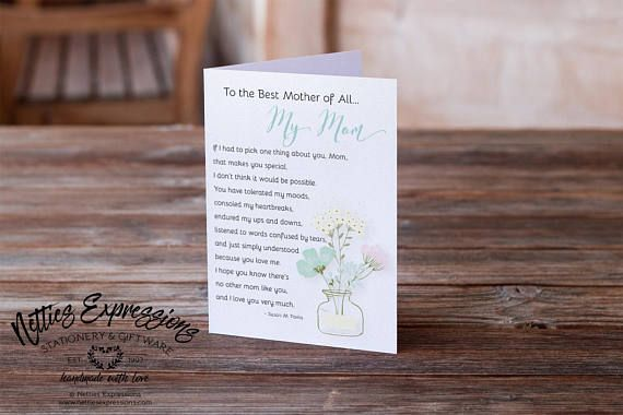 To the best Mother of all Birthday Card Greeting Card Mom