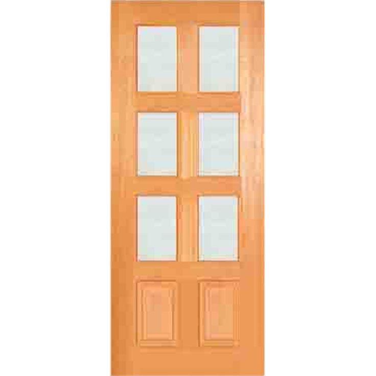 Door Entrance Modern French 2040x820x40 Clr Safety Gls F19
