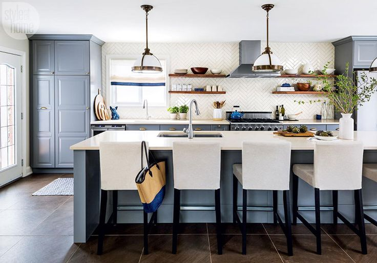 1 A soft grey-blue kitchen—Paint your kitchen (cabinets or walls!) a soft grey-blue. The study found that buyers would pay up to $1,809 more for a home with a soft grey-blue kitchen than one in any other colour.