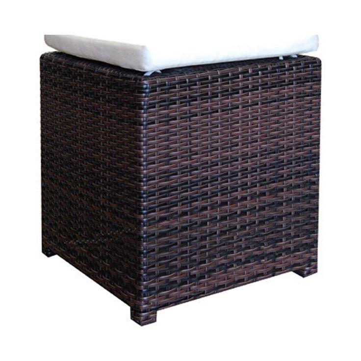 Genesis garden stool aluminum wicker rocky brown Ε6679,7