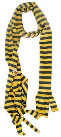 Hootkid Step It Up Scarf - Dark Grey/Yellow