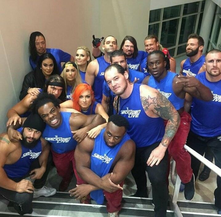 SD Roster: Shinsuke Nakamura, Natalya, Ty Dillinger, AJ Style, Dolph Ziggler, Tamina, Carmella, Bobby Roodes, Kofi Kingston, Zack Ryder, Mojo Rawley, Chad Gable, Becky Lynch, Rusev, Xavier Wood, Big E & Baron Corbin