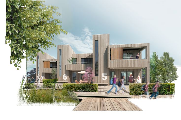1st prize winner proposal for the Futures sustainable social housing in Kolding, Denmark (FBAB).  By DISSING+WEITLING architecture.