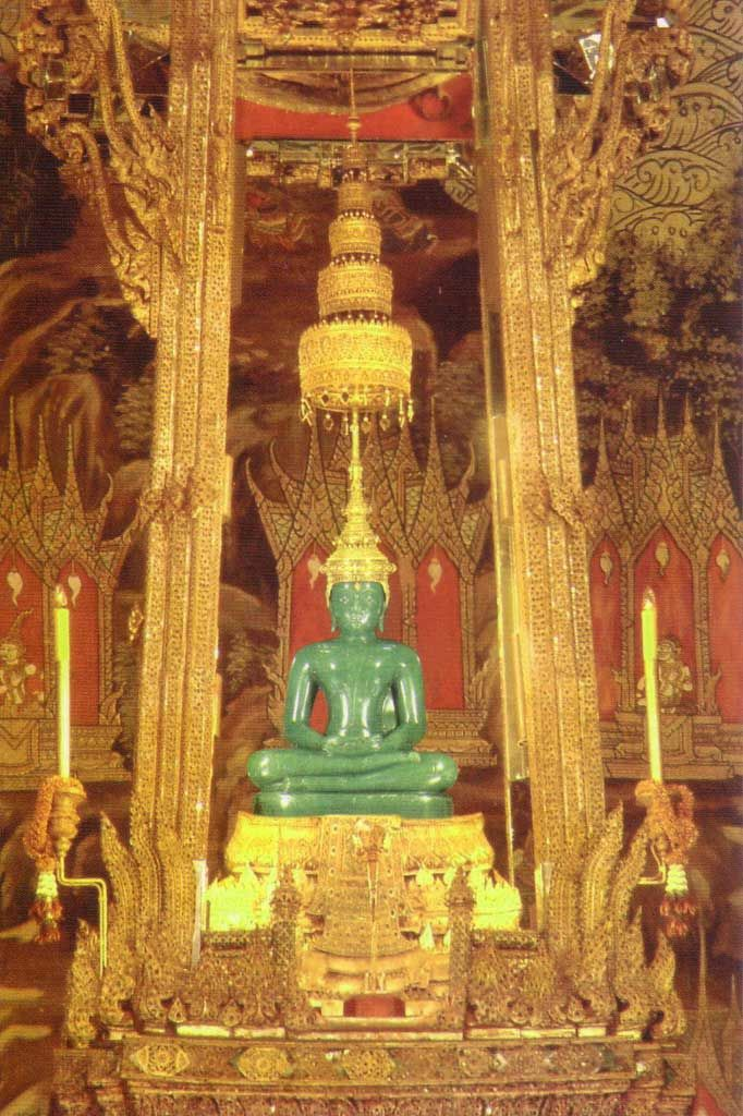 Temple of The Emerald Buddha, Bangkok  FYI The Buddha is carved from  Imperial Jade, not emerald.