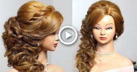 Bridal prom hairstyle for long medium hair tutorial #hair #wedding #hairstyles #promhairupdotutorial