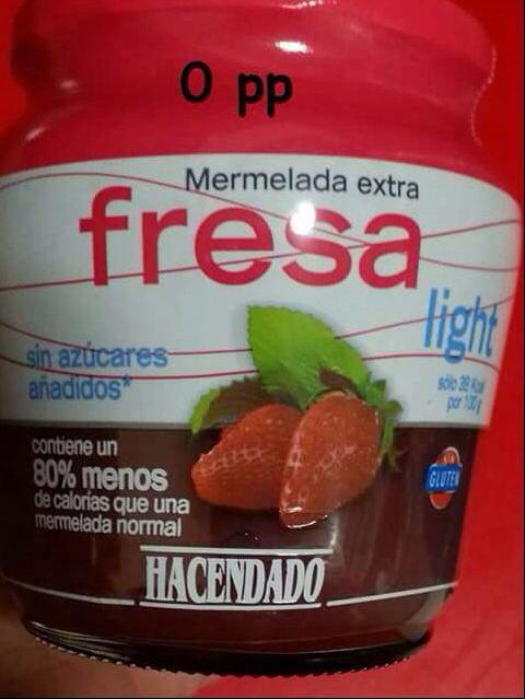 Mermelada sabor fresa light (Mercadona)