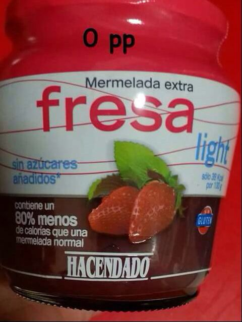 Mermelada sabor fresa light (Mercadona)
