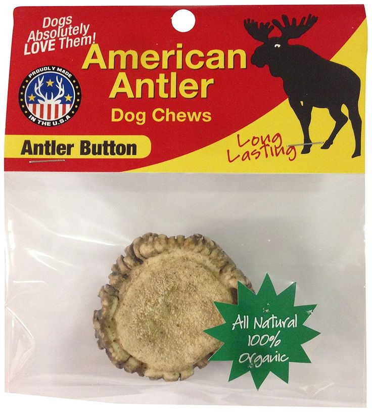 American Antler Dog Chews, Antler Button >> You can get additional details, click the image : Dog treats