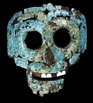 Ацтекская мозаичная маска Кетцалькоатля