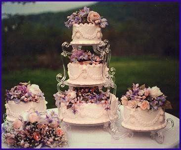 Victorian Garden Elegant Wedding Cake Stand...!