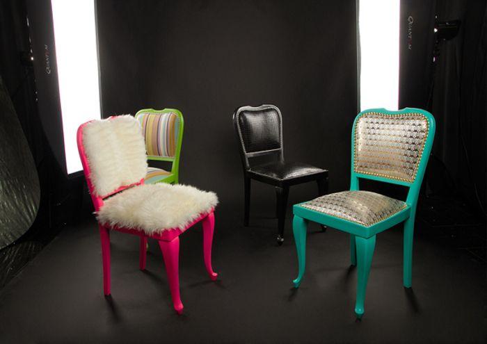 Гламурный декор в концепте классического стула