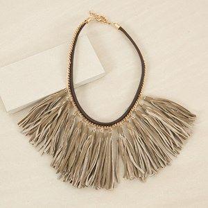 Leather Tassels Short Navaho Necklace