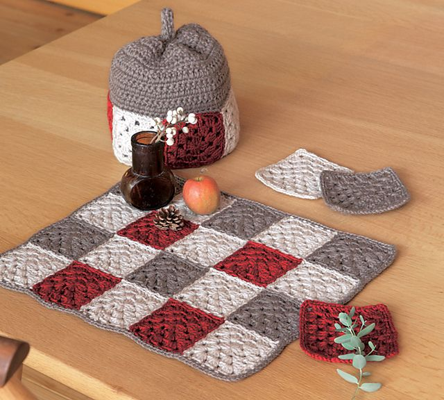 Ravelry: amicomo7-11 Tea Set pattern by Pierrot (Gosyo Co., Ltd)
