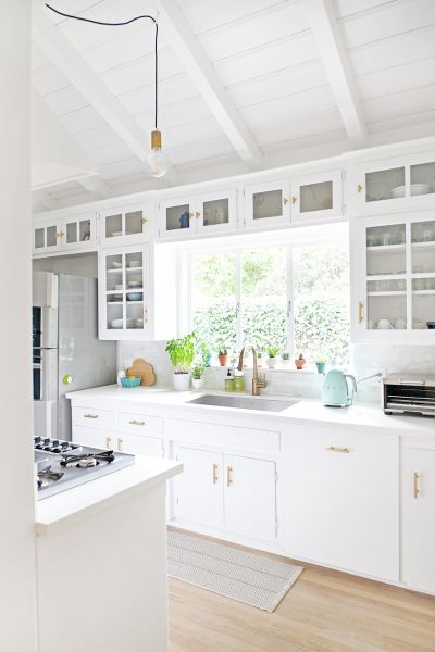 All white everything: http://www.stylemepretty.com/living/2016/05/16/12-ways-to-make-your-home-feel-like-a-beach-house/