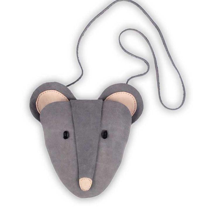 Donsje Δερμάτινη παιδική τσάντα Mouse