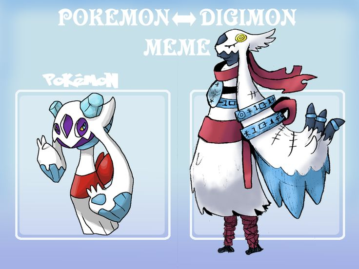 Pokemon to Digimon Meme by Strontium-Chloride.deviantart.com on @deviantART