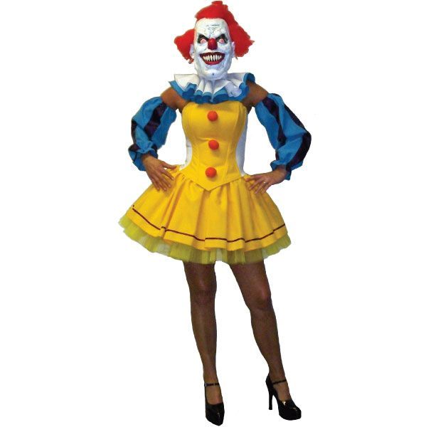 "Hire this Pennywise ""It"" Clown Corset Tutu fancy dress costume now!  WITHOUT the mask."