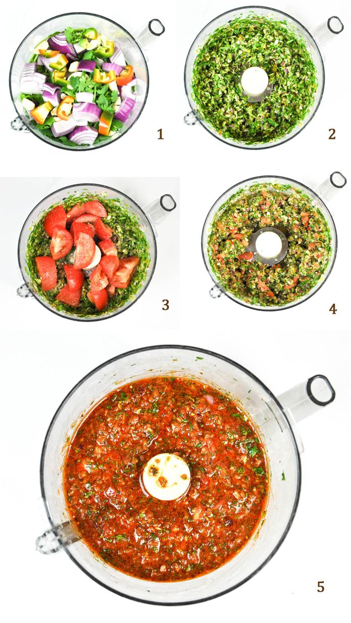 Chimichurri Rojo - A traditional green sauce, this savory sauce is wonderful with red meat. It's like a cross between marinara and salsa