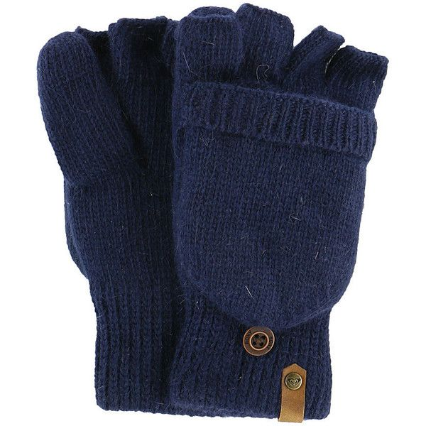 Roxy Snow Women's Torah Bright Knit Mittens Navy Misc Accessories ($33) ❤ liked on Polyvore featuring accessories, gloves, navy, fingerless mitten gloves, fingerless mittens, convertible mitten gloves, fingerless gloves and convertible knit gloves
