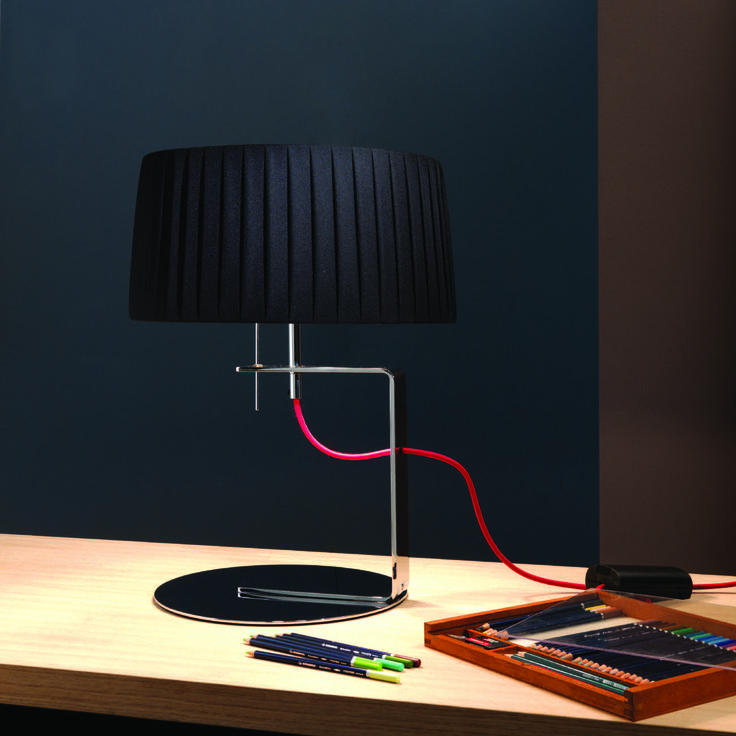 Divina Table Lamp Black by Contardi