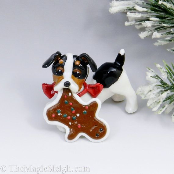 Rat Terrier Toy Fox Terrier Ornament Christmas by TheMagicSleigh, $25.00