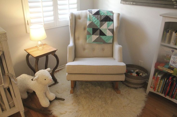 Modern, beautiful nursery glider from @nurseryworks. {So perfect in this #nursery!}