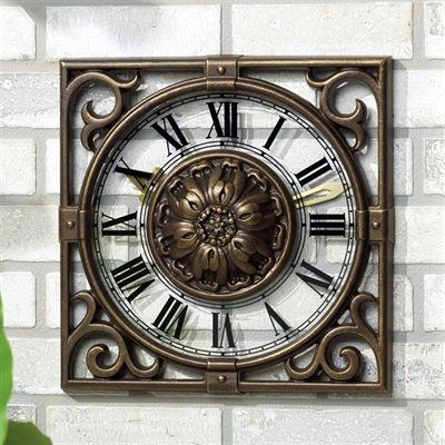 The perfect outdoor accent: Rustic Outdoor Clock