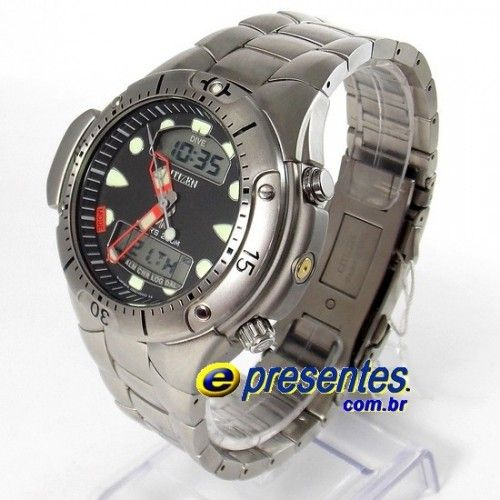 JP1060-52E Relógio Citizen Aqualand II Profundímetro e Alarmes