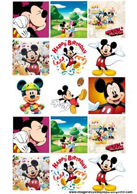 Stickers para imprimir de mickey mouse