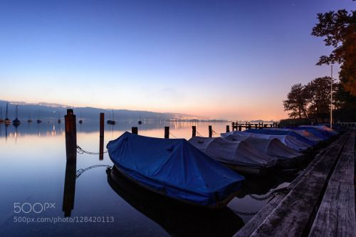 Beautiful sunset by burim autumn blue boats fog foggy greifensee lake october sky sunset travel water burim