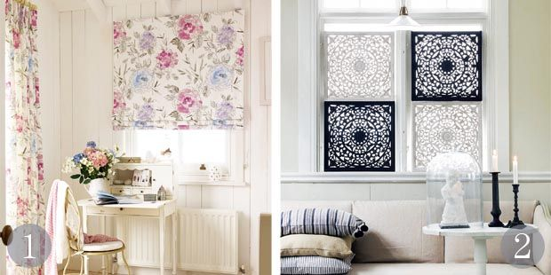 17 best images about window treatments on pinterest for Fabric window blinds designs