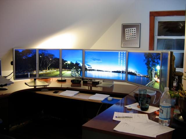 17 best images about trading stadium ideas on pinterest for Best home office monitor setup