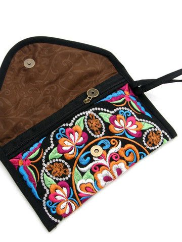 Yunnan ethnic embroidery clutch #inspiration #bag #embroidery