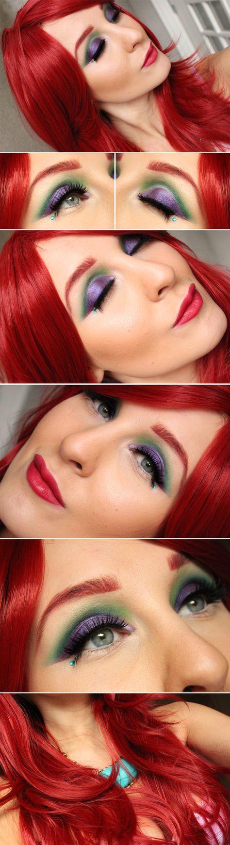 Dagens makeup - Little Mermaid