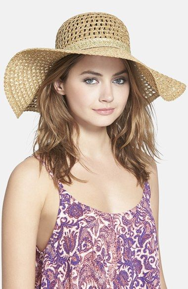 Hinge Open Weave Floppy Straw Hat available at #Nordstrom